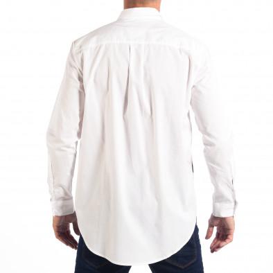 Мъжка бяла риза Regular fit с принт lp070818-121 3