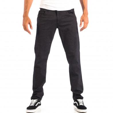 Мъжки Slim панталон RESERVED черен меланж lp060818-111 2