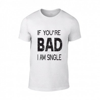 Мъжка бяла тениска Bad, размер L TMNSPM131L 2