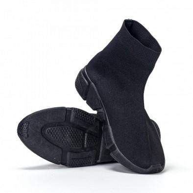 Мъжки черни slip-on маратонки All-black it240418-28 3
