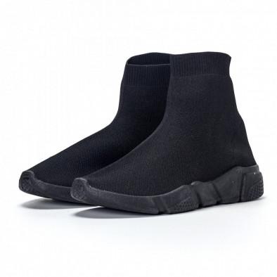 Мъжки черни slip-on маратонки All-black it240418-28 4
