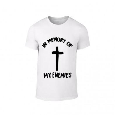 Мъжка бяла тениска In Memory of my Enemies TMN-M-203 2