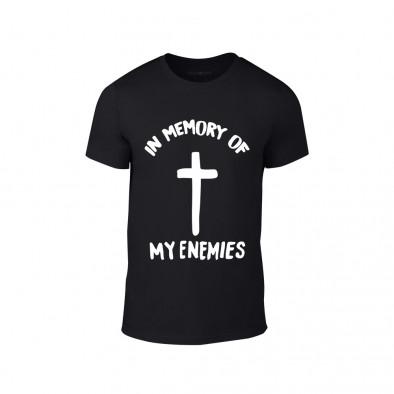 Мъжка черна тениска In Memory of my Enemies TMN-M-204 2