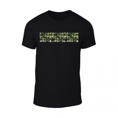 Мъжка черна тениска Military TMN-M-094 2