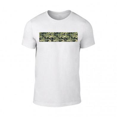 Мъжка бяла тениска Military TMN-M-093 2