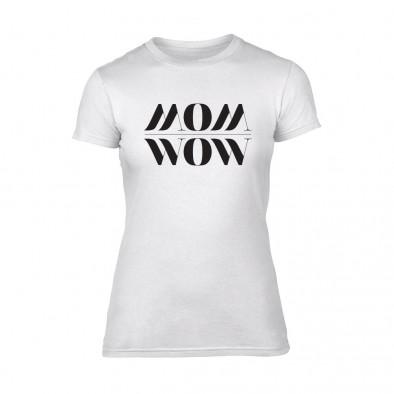 Дамска бяла тениска Mom Wow TMN-F-093 2