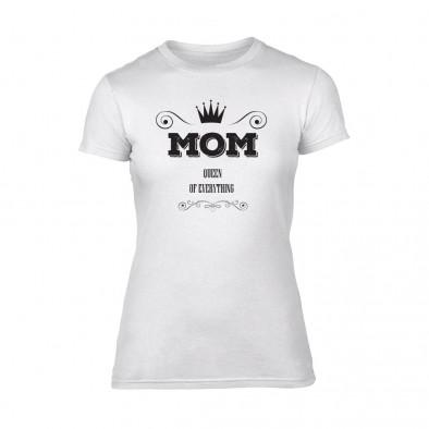 Дамска бяла тениска Mom Queen Of Everything TMN-F-087 2