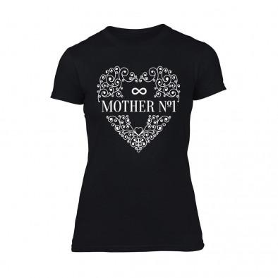 Дамска черна тениска Mother No.1 TMN-F-090 2