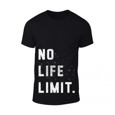 Мъжка черна тениска No Life Limit TMN-M-090 2