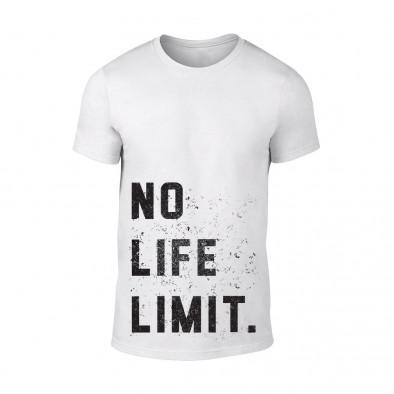 Мъжка бяла тениска No Life Limit TMN-M-089 2