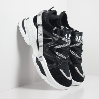 Мъжки черни маратонки Chunky дизайн it130819-29 2
