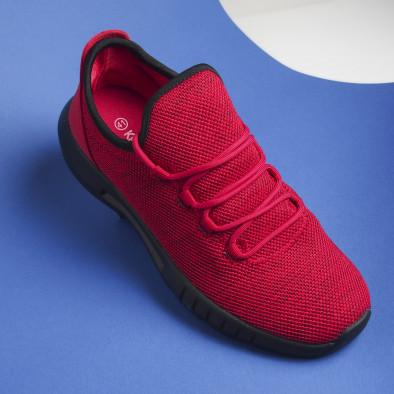 Леки мъжки маратонки червен меланж it041119-1 3