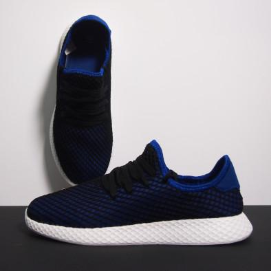 Ултралеки мъжки маратонки Mesh в черно и синьо it230519-2 3