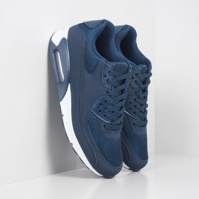 Сини мъжки маратонки с въздушна камера it251019-11 4