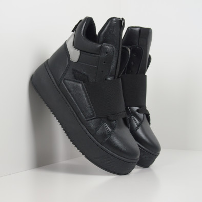 Черни дамски боти на платформа it130819-73 3
