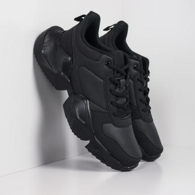 Extra Chunky мъжки леки маратонки в черно it260919-30 2
