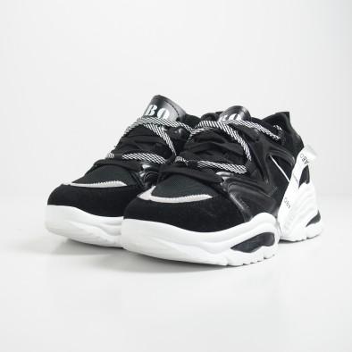 Мъжки черни маратонки Chunky дизайн it130819-29 4