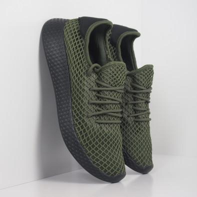 Зелени мъжки маратонки Mesh черна пета it251019-1 3