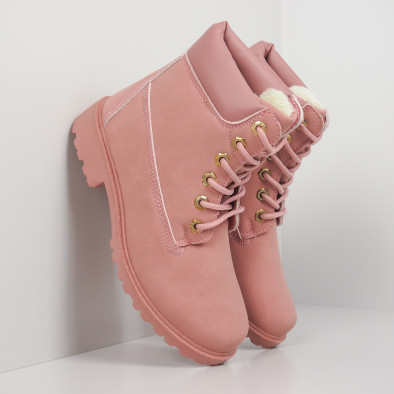 Дамски розови боти с подплата it260919-52 3