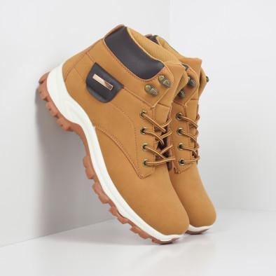 Мъжки трекинг обувки в цвят камел it260919-29 2