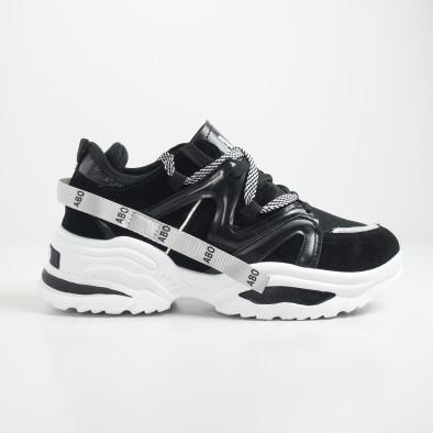 Мъжки черни маратонки Chunky дизайн it130819-29 3