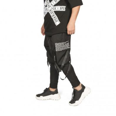 Мъжки еластичен панталон с акценти tr110320-135 5