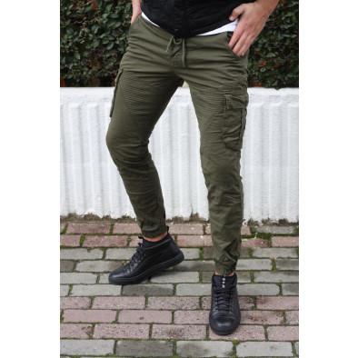 Зелен мъжки Cargo Jogger в рокерски стил tr170320-3 5