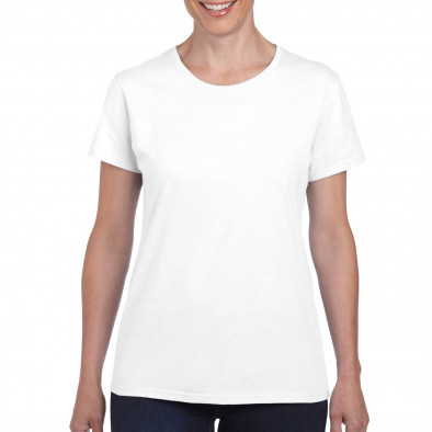 Дамска бяла памучна тениска базов модел tmn060120-4 2