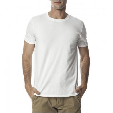 Мъжка бяла памучна тениска базов модел tmn060120-2 2