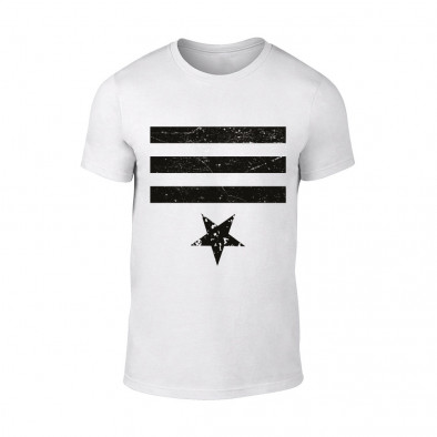 Мъжка бяла тениска Star 3 TMN-M-085 2
