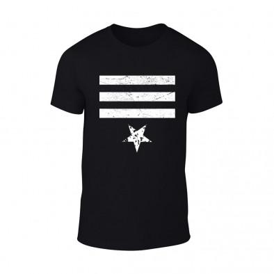 Мъжка черна тениска Star 3 TMN-M-086 2