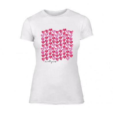 Дамска бяла тениска Hearts TMN-F-039 2