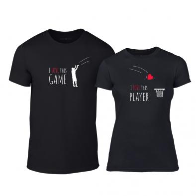 Тениски за двойки Basketball черни TMN-CP-208 2