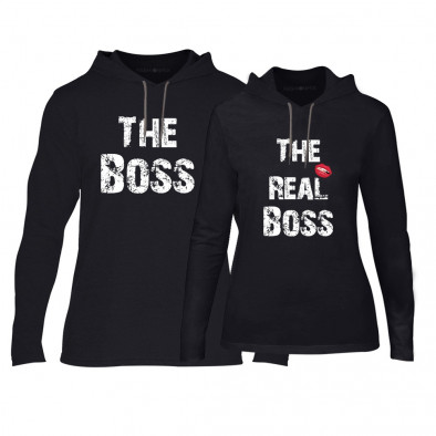 Суичъри за двойки The Boss The Real Boss в черно TMN-CPS-140 2