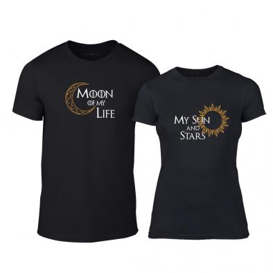 Тениски за двойки Sun & Moon черни TMN-CP-228 2