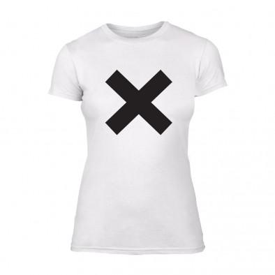 Дамска бяла тениска X TMN-F-065 2