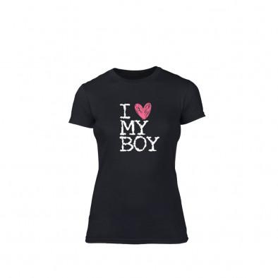 Дамска тениска  Love My Boy размер L TMNLPF027L 2