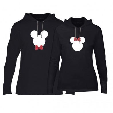 Суичъри за двойки Mickey & Minnie в черно TMN-CPS-029 2