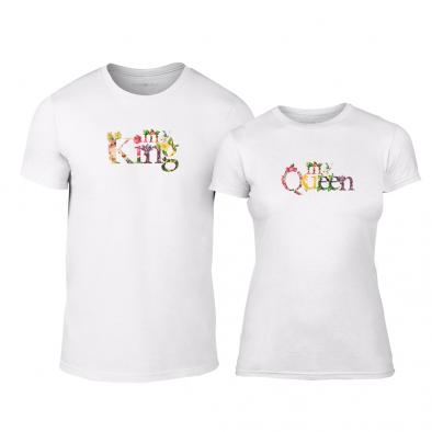 Тениски за двойки My King My Queen бели TMN-CP-221 2