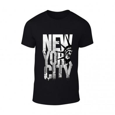 Мъжка черна тениска New York TMN-M-056 2