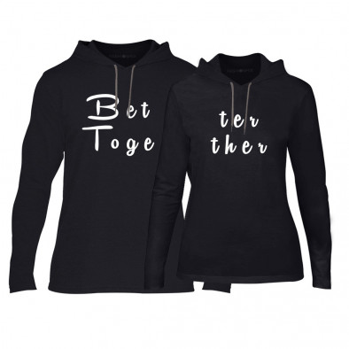 Суичъри за двойки Better Toghether в черно TMN-CPS-132 2