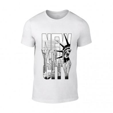 Мъжка бяла тениска New York TMN-M-055 2
