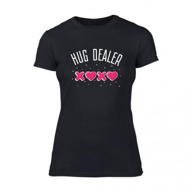 Дамска черна тениска Hug Dealer TMN-F-060 2