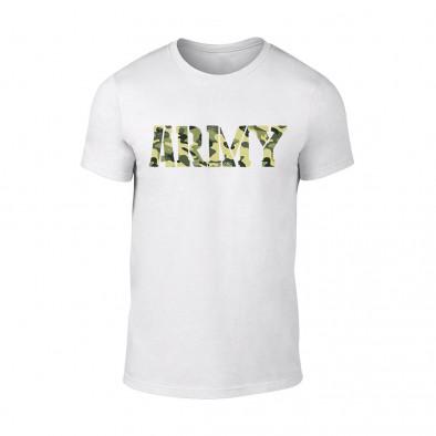 Мъжка бяла тениска Army TMN-M-061 2