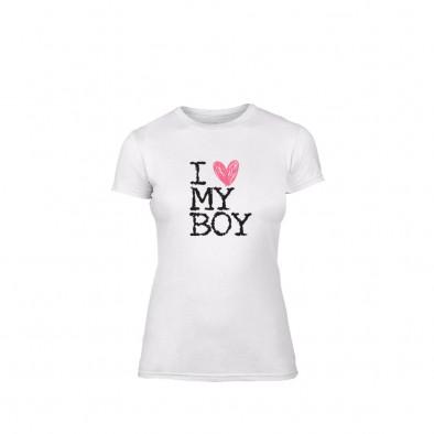Дамска тениска Love My Boy, размер M TMNLPF026M 2