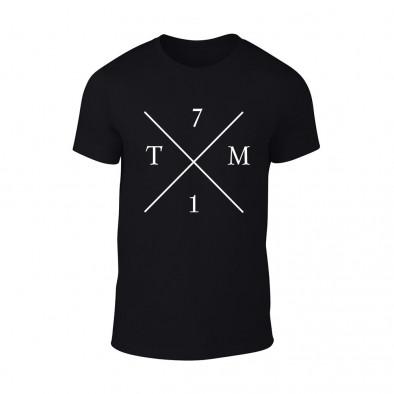 Мъжка черна тениска TM71 TMN-M-066 2