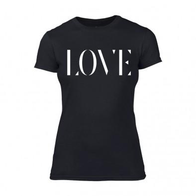Дамска черна тениска Love TMN-F-026 2