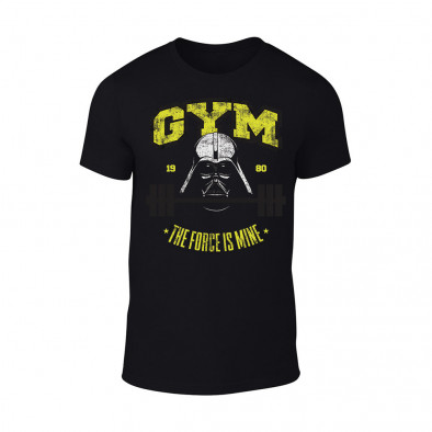 Мъжка черна тениска Gym TMN-M-058 2