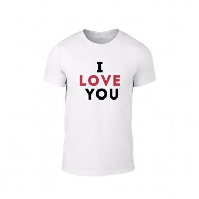 Мъжка тениска I love you, размер M TMNLPM155M 2