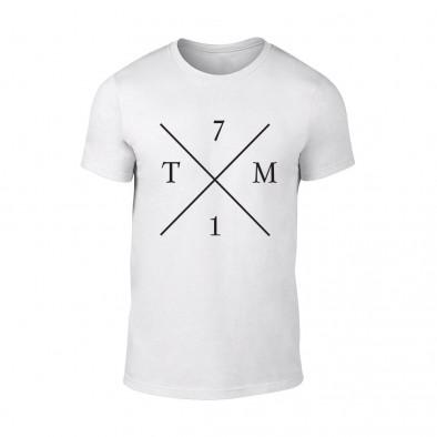 Мъжка бяла тениска TM71 TMN-M-065 2